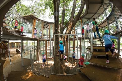 Une école maternelle sans murs