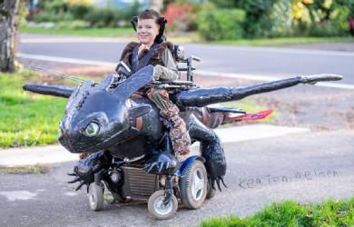 Des costumes d'Halloween pour les enfants en fauteuils roulants !