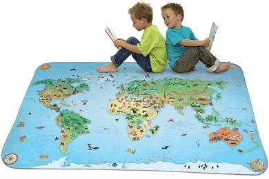 HOUSE OF KIDS : tapis mappemonde
