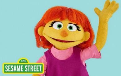 Une marionnette autiste rentre dans Sesame Street !