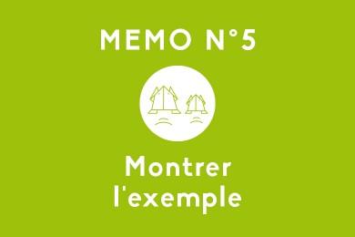 Mémo N°5 – Montrer l'exemple