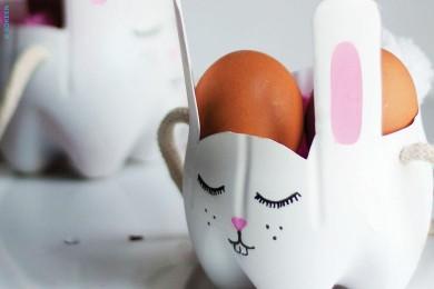 Un panier lapin pour ramasser les oeufs !