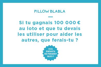 Si tu gagnais 100 000 € au loto et que tu devais les utiliser pour aider les autres, que ferais-tu ?