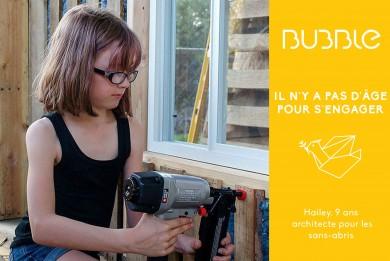 9 ans et architecte pour les sans-abris