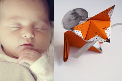 Faire-part de naissance en origami [Printable]