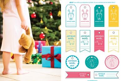 Étiquettes de Noël sur mesure [Printable]