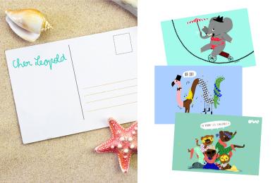 Cartes postales rigolotes pour les vacances [Printable]