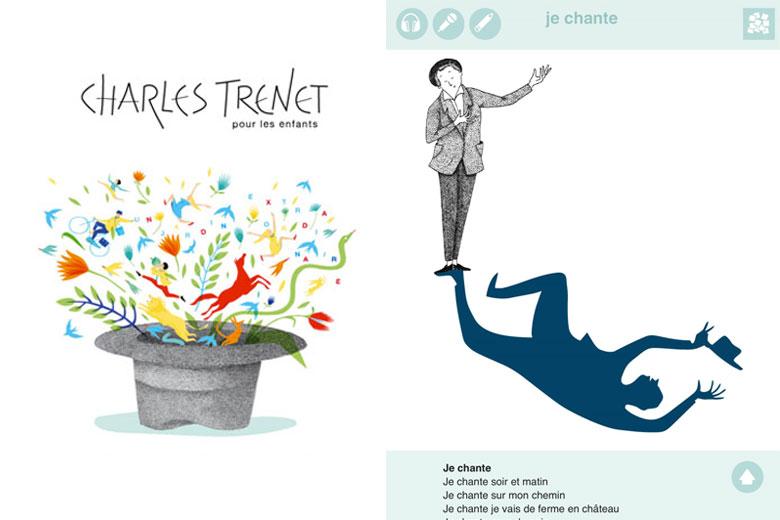 Appli : « Charles Trenet pour les enfants » (3-12 ans)