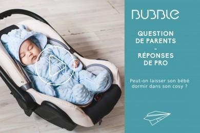 Peut-on laisser son bébé dormir dans son cosy ?