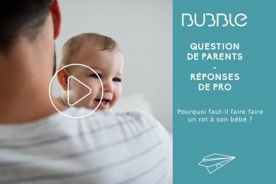 Pourquoi faut-il faire faire un rot à son bébé ?