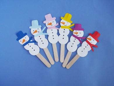 snowmen puppets-1